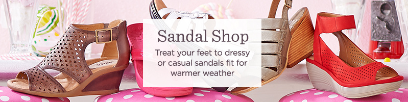 Sandal Shop  Treat your feet to dressy or casual sandals fit for warmer weather