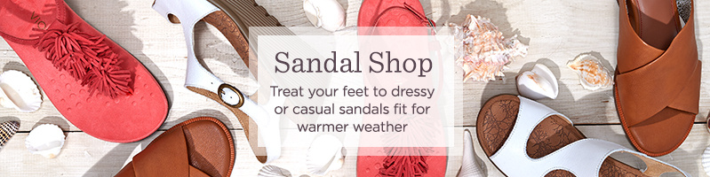 Sandal Shop. Treat your feet to dressy or casual sandals fit for warmer weather