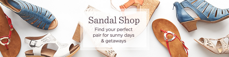 Sandal Shop. Find your perfect pair for sunny days & getaways