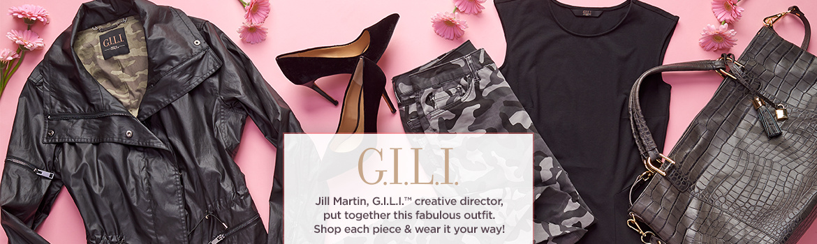 Jill Martin, G.I.L.I.™ creative director, put together this fabulous outfit. Shop each piece & wear it your way!
