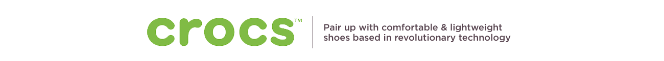Crocs.  Pair up with comfortable & lightweight shoes based in revolutionary technology