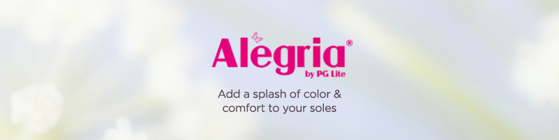 Alegria Add a splash of color & comfort to your soles