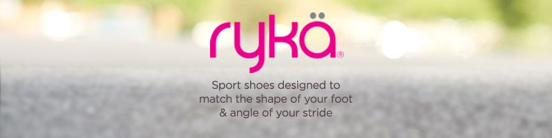 Rykä. Sport shoes designed to match the shape of your foot & angle of your stride