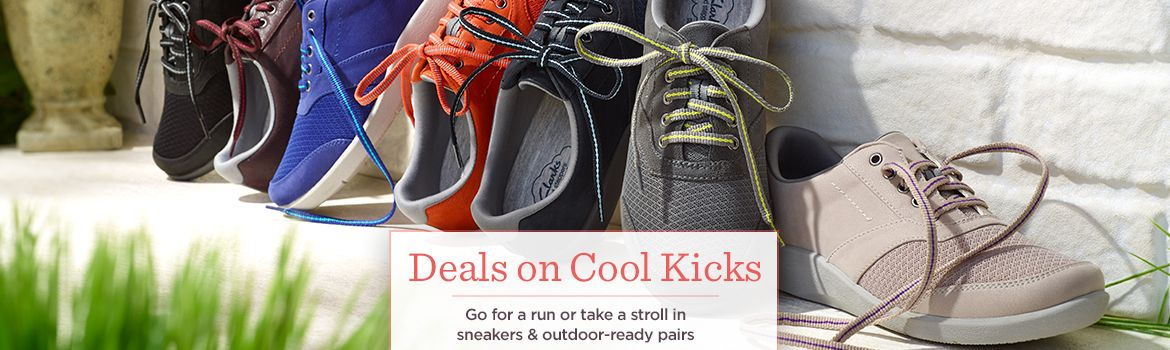 Deals on Cool Kicks,  Go for a run or take a stroll in sneakers & outdoor-ready pairs