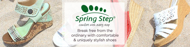 Spring Step. Break free from the ordinary with comfortable & uniquely stylish shoes