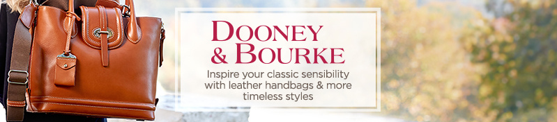 Dooney & Bourke Inspire your classic sensibility with leather handbags & more timeless styles