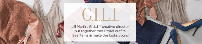 GILI Jill Martin, G.I.L.I.™ creative director, showcases chic fashions & accessories. See pieces & get her looks