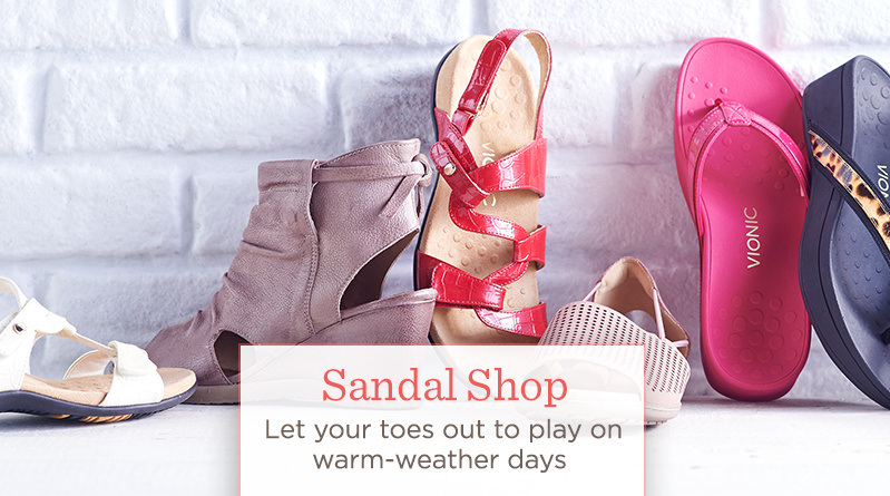 The Sandal Shop Let your toes out to play on warm-weather days