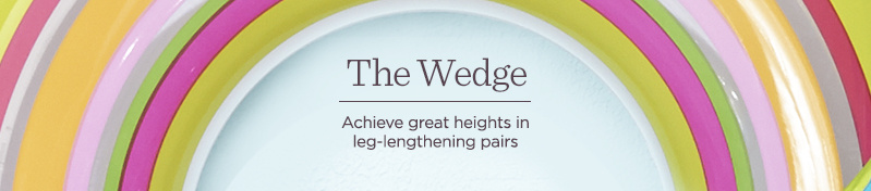 The Wedge  Achieve great heights in leg-lengthening pairs