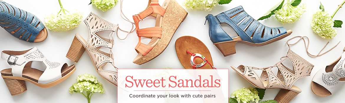 Sweet Sandals Coordinate your look with cute pairs