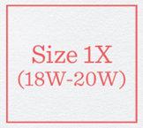 Size 1X (18W - 20W)