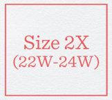 Size 2X (22W - 24W)