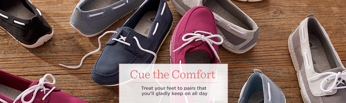 Cue the Comfort. Treat your feet to pairs that you'll gladly keep on all day