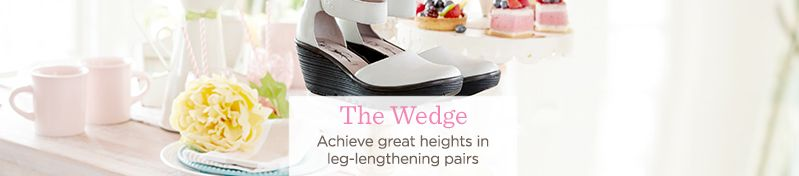 The Wedge. Achieve great heights in leg-lengthening pairs