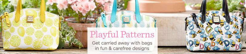 Playful Patterns.  Get carried away with bags in fun & carefree designs