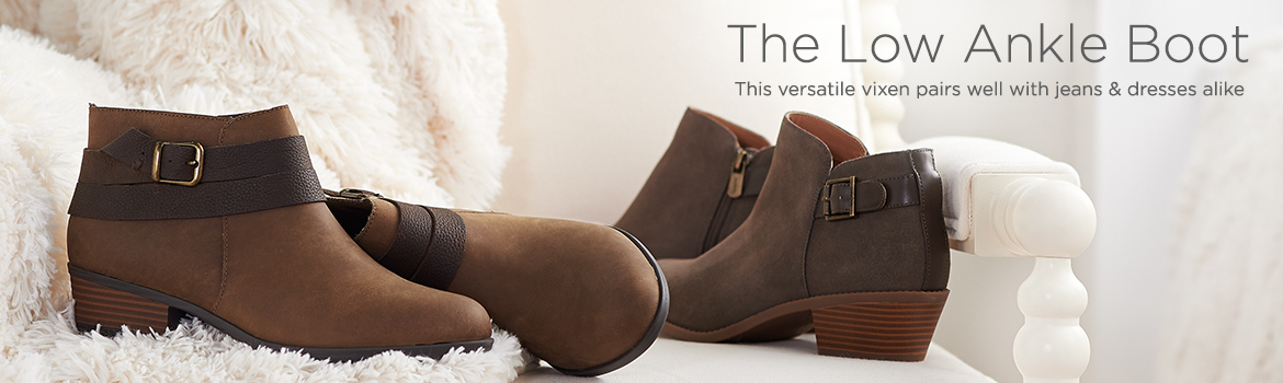 The Low Ankle Boot. This versatile vixen pairs well with jeans & dresses alike