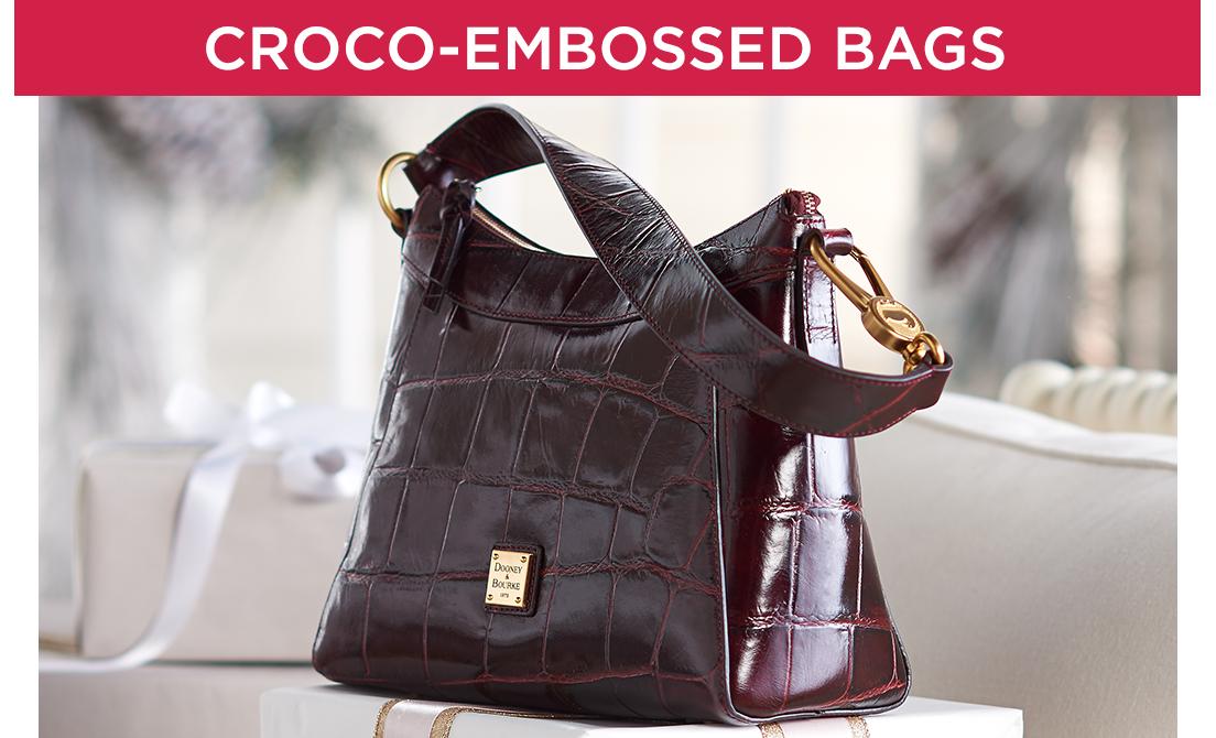 Croco-Embossed Bags