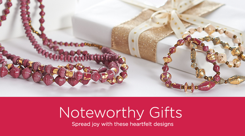Noteworthy Gifts    Spread joy with these heartfelt designs