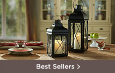 Luminara Churchill Lantern with Flameless Candle w/ Timer