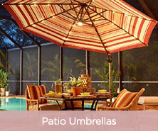 AT Leisure 9ft Light Solar Patio Umbrella w/ 44 LEDs