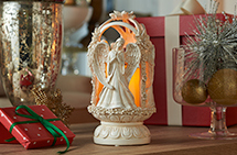 3-Sided Angel Lantern with Flameless Candle by HomeReflections