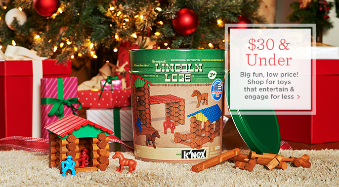 Lincoln Logs Retro Edition Tin & Figures