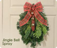 Fresh balsam jingle bell spray by Valerie Parr Hill