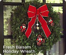 Balsam fir holiday wreath by Valerie Parr Hill