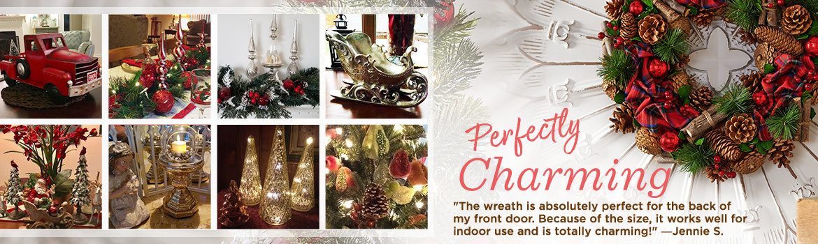 """Perfectly Charming. """"The wreath is absolutely perfect for the back of my front door. Because of the size, it works well for indoor use and is totally charming!"""" ―Jennie S."""