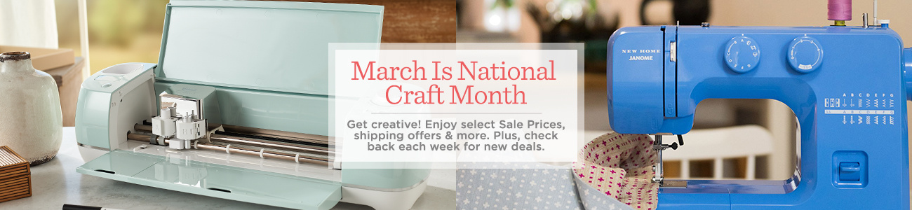 March Is National Craft Month   Get creative! Enjoy select Sale Prices, shipping offers & more. Plus, check back each week for new deals.