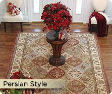 Royal Palace Persian-style panel design wool rug