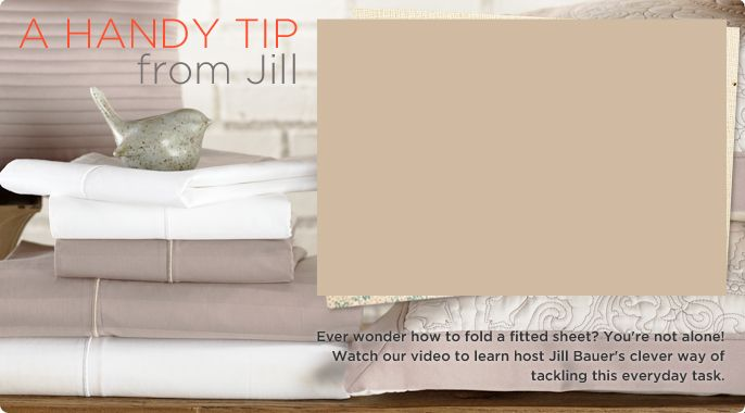 jill bauer fitted sheet video - How To Fold Fitted Sheets