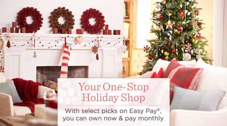 Your One-Stop Holiday Shop, With select picks on Easy Pay®, you can own now & pay monthly