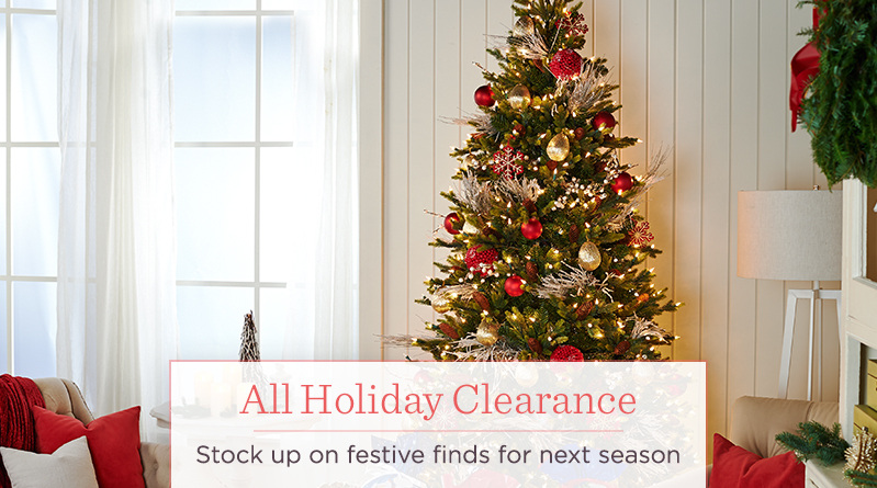 All Holiday Clearance. Stock up on festive finds for next season