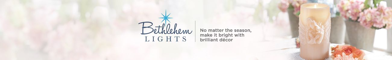 Bethlehem Lights.  No matter the season, make it bright with brilliant décor