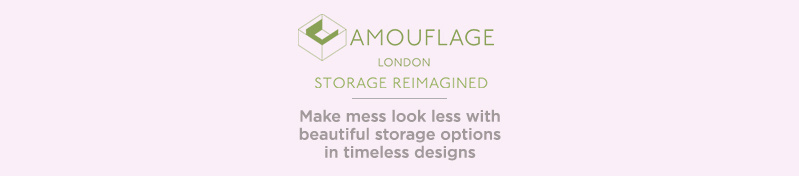 The Camouflage Company. Make mess look less with beautiful storage options in timeless designs.