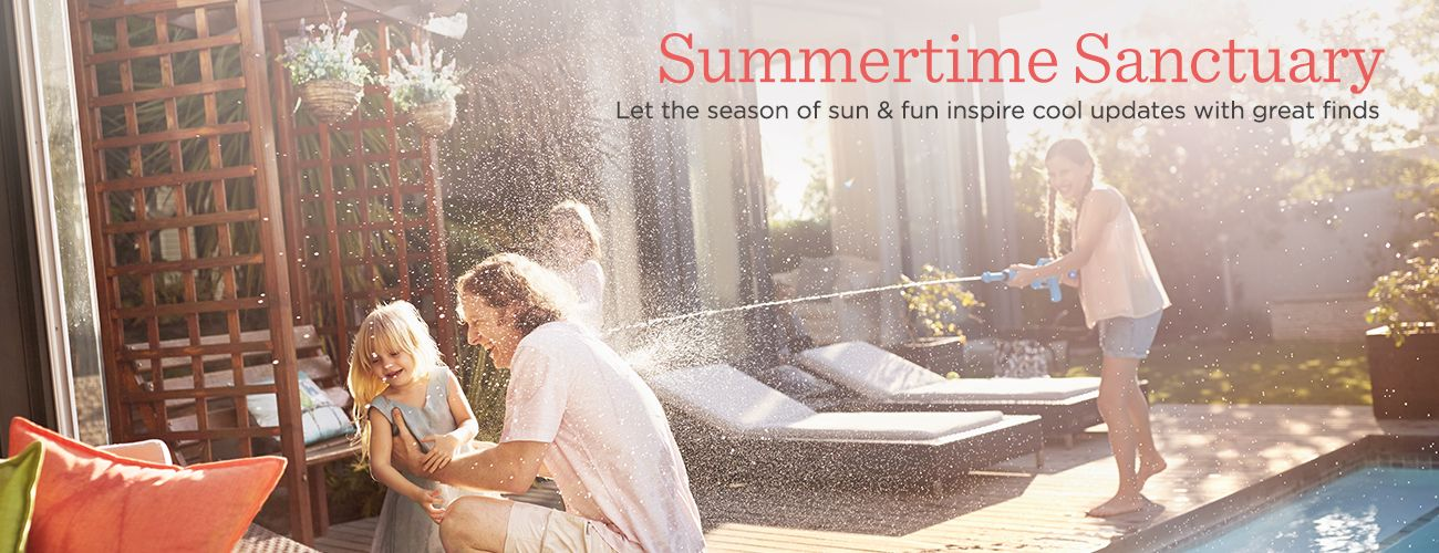Summertime Sanctuary. Let the season of sun, sand & surf inspire cool updates with great finds
