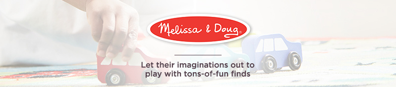 Melissa & Doug. Let their imaginations out to play with tons-of-fun finds