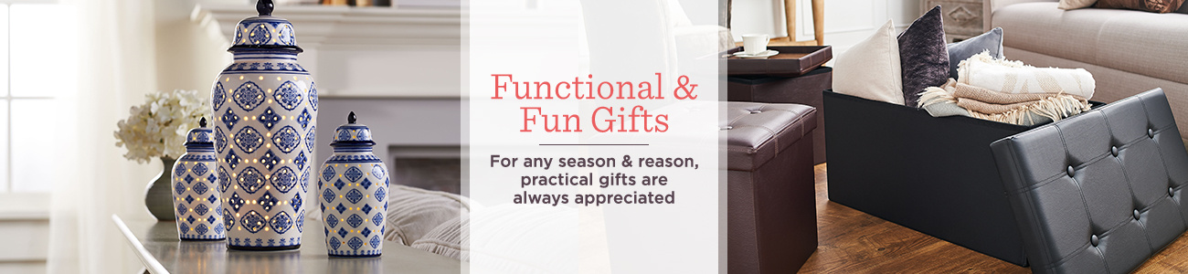 Functional & Fun Gifts. For any season & reason, practical gifts are always appreciated
