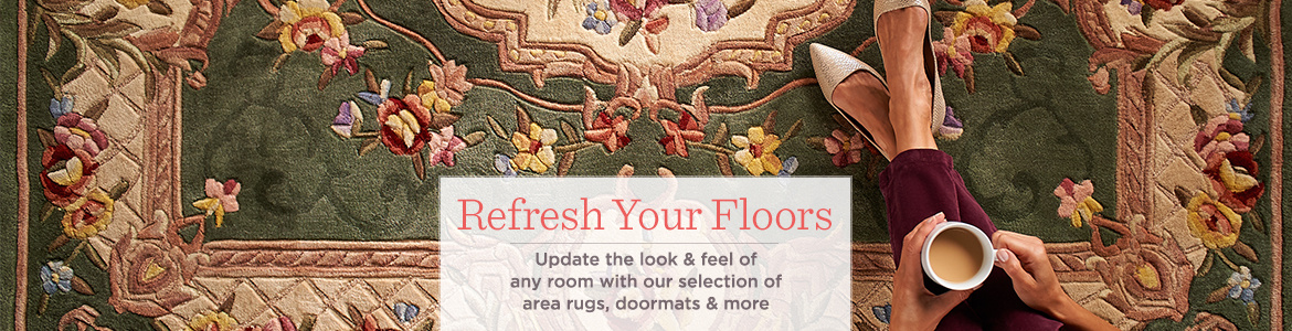 rugs, doormats, rug runners & area rugs — for the home — qvc