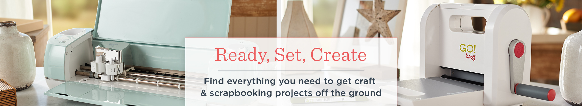 Ready, Set, Create. Find everything you need to get craft & scrapbooking projects off the ground