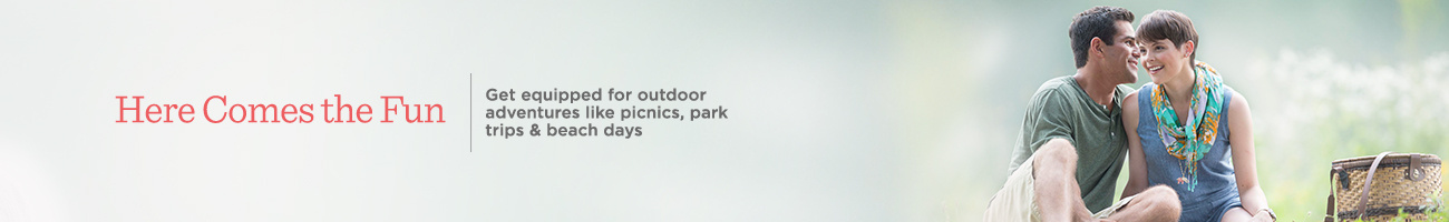 Get equipped for your outdoor adventures, including like  picnics, park trips & beach days