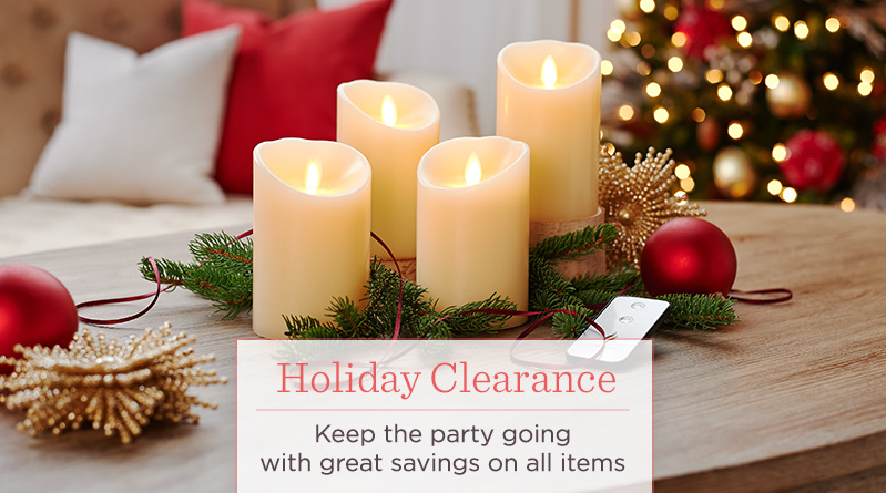 Holiday Clearance, Keep the party going with great savings on all items