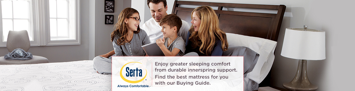 Serta, Enjoy greater sleeping comfort from durable innerspring support.  Find the best mattress for you with our Buying Guide.
