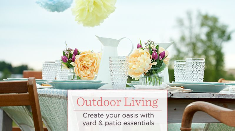 Outdoor Living. Create your oasis with yard & patio essentials