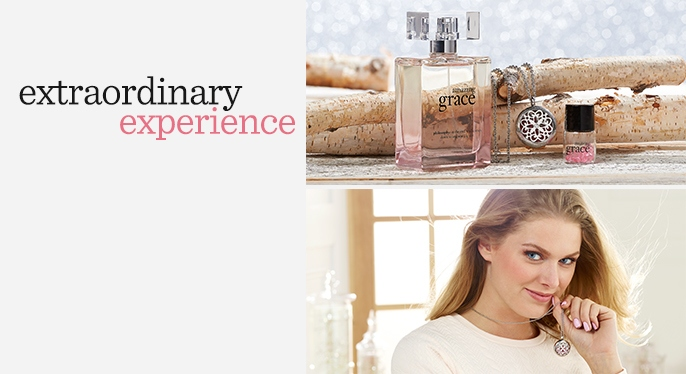 philosophy amazing grace necklace & EDP set