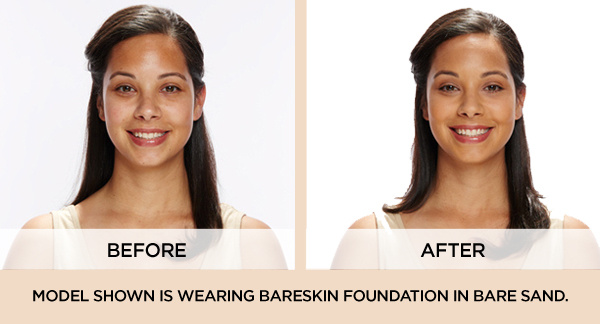 bare minerals before and after. bareminerals bareskin serum foundation spf 20 w/ brush - page 1 \u2014 qvc.com bare minerals before and after r