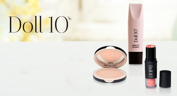 Doll 10 CC Powder, Doll 10 Foundation, Doll 10 Cheek & Lip Stick