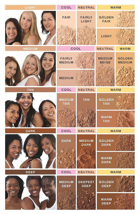bare minerals foundation colors