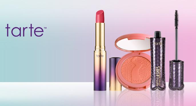 tarte Lipstick; tarte Blush; tarte Mascara